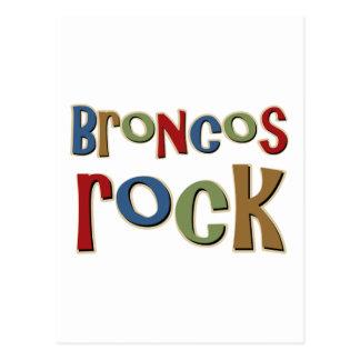 Broncos Rock Postcard
