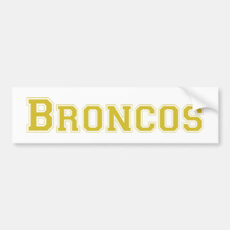 Broncos square logo in gold bumper stickers