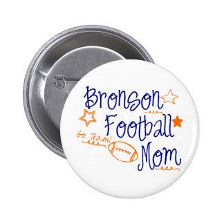 Bronson Football Mum Pinback Buttons