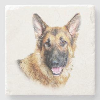 Bronson the German Shepherd marble coaster