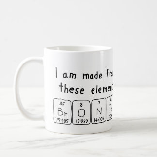 Bronte periodic table name mug