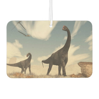 Brontomerus dinosaurs in the desert - 3D render Car Air Freshener