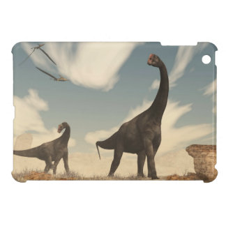 Brontomerus dinosaurs in the desert - 3D render Case For The iPad Mini