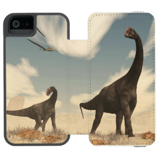 Brontomerus dinosaurs in the desert - 3D render Incipio Watson™ iPhone 5 Wallet Case
