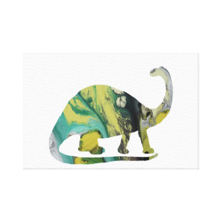 Brontosaurus Art Canvas Print