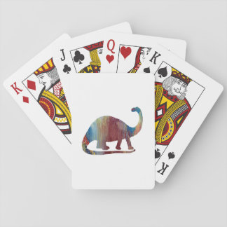 Brontosaurus Art Playing Cards