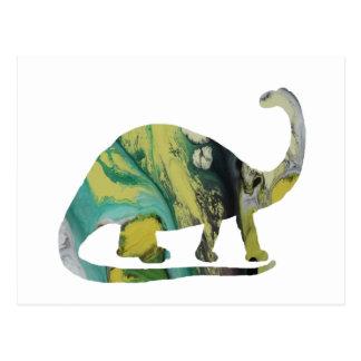 Brontosaurus Art Postcard