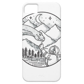 Brontosaurus Astronaut Mountain Circle Tattoo Barely There iPhone 5 Case