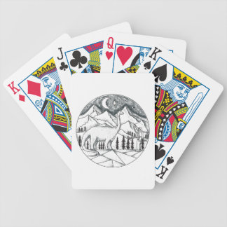 Brontosaurus Astronaut Mountains Tattoo Bicycle Playing Cards