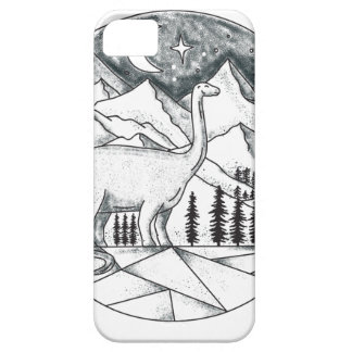 Brontosaurus Astronaut Mountains Tattoo Case For The iPhone 5