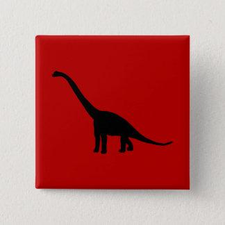 Brontosaurus Dinosaur Shadow Prehistoric Animals 15 Cm Square Badge