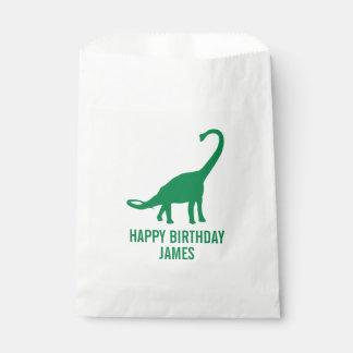 Brontosaurus Dinosaur Silhouette Birthday Goodie Favour Bag