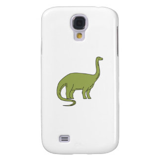 Brontosaurus Mono Line Galaxy S4 Covers
