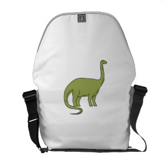 Brontosaurus Mono Line Messenger Bags