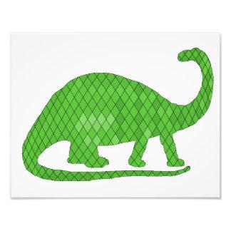 brontosaurus photo print