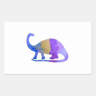 Brontosaurus Rectangular Sticker