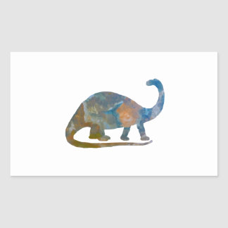 Brontosaurus Rectangular Sticker
