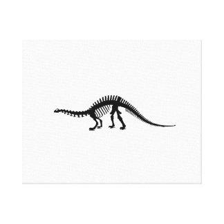 brontosaurus skeleton canvas print