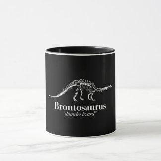 Brontosaurus Thunder Lizard Dinosaur Skeleton Mug