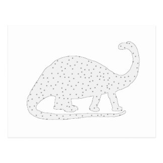 Brontosaurus White Winter Art Postcard