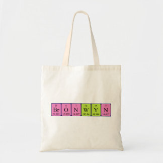 Bronwyn periodic table name tote bag