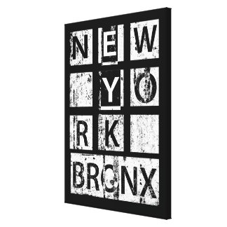 Bronx New York | Grunge Typography Canvas Print
