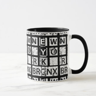 Bronx New York   Grunge Typography Mug