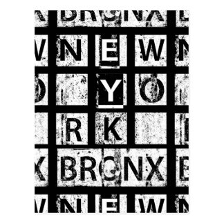 Bronx New York | Grunge Typography Postcard