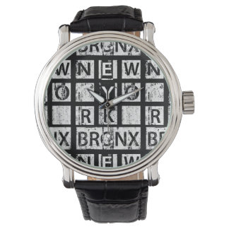Bronx New York | Grunge Typography Watch