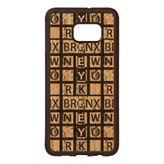 Bronx New York | Grunge Typography Wood Samsung Galaxy S6 Edge Case