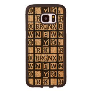 Bronx New York | Grunge Typography Wood Samsung Galaxy S7 Edge Case