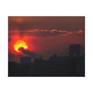 Bronx Sunset Canvas Print