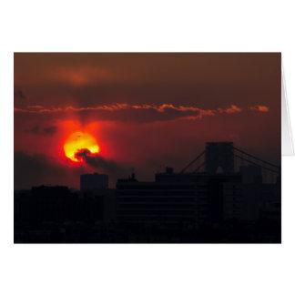 Bronx Sunset Card