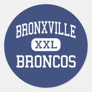 Bronxville - Broncos - High - Bronxville New York Classic Round Sticker
