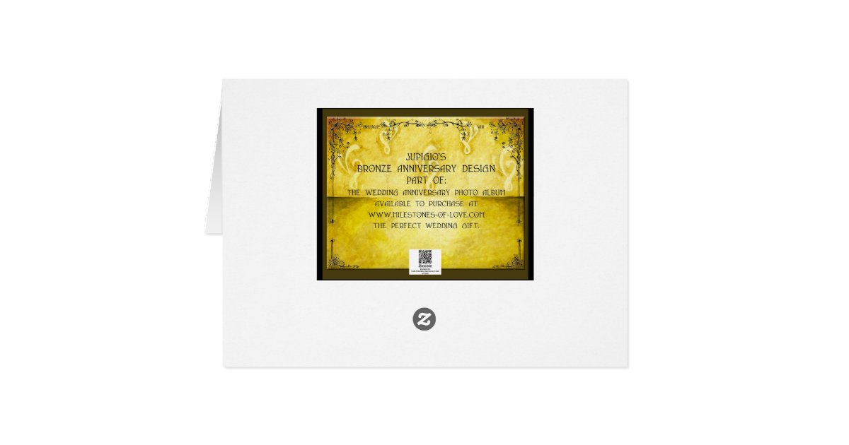 8 Year Wedding Anniversary Gifts For Her: Bronze 8th Year Wedding Anniversary Gift Card