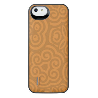 Bronze Abstract Pattern iPhone SE/5/5s Battery Case