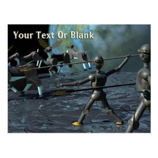 Bronze Age Robots Postcard