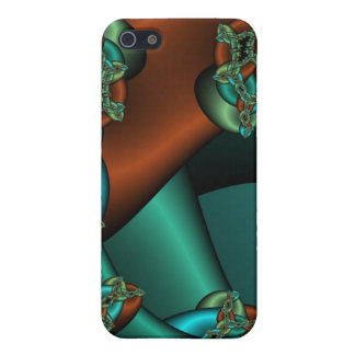 bronze and green fractal iphone case iPhone 5/5S cover