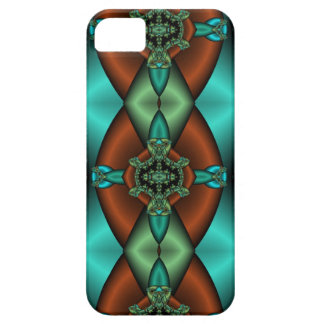bronze and teal abstract iphone case