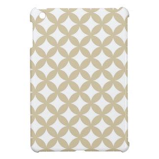 Bronze and White Geocircle Design Case For The iPad Mini