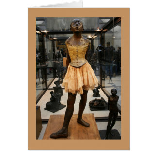 Bronze Ballerina Greeting Card