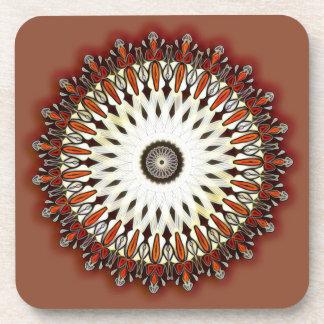 Bronze beauty kaleidoscope coaster