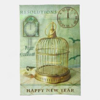 Bronze Birdcage Tea Towel