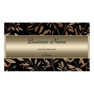 Bronze Black Brown Floral Elegant Business Card