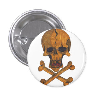 Bronze Bones Button