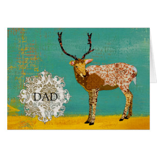 Bronze Buck Dad Notecard Greeting Cards