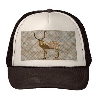 Bronze Buck Plaid Lid Trucker Hat
