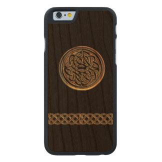 Bronze Celtic Knot Black Wood iPhone 6 Case
