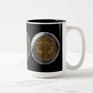 Bronze Clan of Danu Shield Two-Tone Coffee Mug