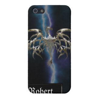 Bronze Dragon on Lightning Sky iPhone4 Cover iPhone 5/5S Covers